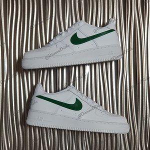 Custom Nike Air Force 1 Custom White Green